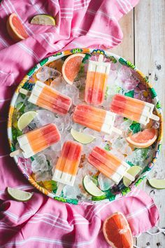 Melon and Citrus Popsicles | Camille Styles