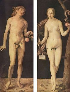 "Albrecht Dürer: ""Adam and Eve"", 1507. (Museo del Prado, Madrid, Spain.) https://www.museodelprado.es/en/"