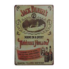 Cuadro de metal impreso vintage JACK DANIELS WHISKEY 20x30-