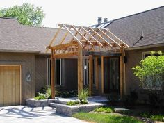 outdoor covered walkways ideas | Gable Design Cedar Pergola - Pergolas & Trellises Photo Gallery ...