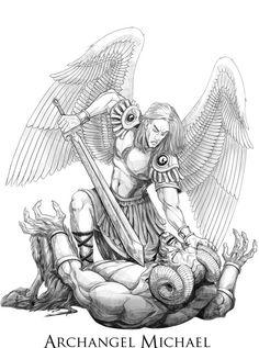 saint michael patron saint of paratroopers prayer Angel Warrior Tattoo, Demon Tattoo, Warrior Tattoos, Statue Tattoo, Archangel Michael Tattoo, St Michael Tattoo, Angel Tattoo Designs, Religious Tattoos, Ange Demon