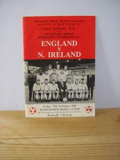 Vintage football soccer program magazine England v Northern Ireland schoolboy international under 15 Victory shield sports football match by IrishBarnVintage on Etsy