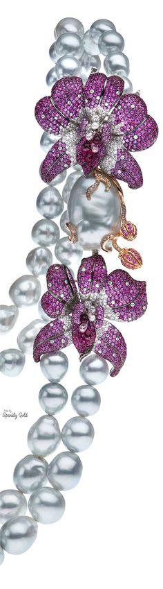 Autore.Pearls purple sapphire diamonds pink sapphire.Save by Antonella B.Rossi