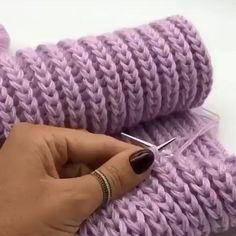 Baby Knitting Patterns, Knitting Stiches, Knitting Videos, Easy Knitting, Knitting Designs, Knitting Tutorials, Scarf Patterns, Finger Knitting, Knitting Needles