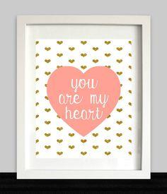 You Are My Heart // Baby Girl Nursery // Girl by NothingPanda