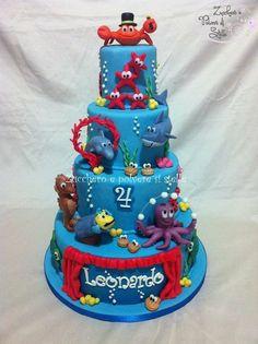 underwater circus cake