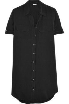 Equipment Slim Signature washed-silk mini dress | NET-A-PORTER