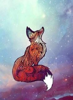 "my fox tattoo to go along with my sisters ""Space Fox"" Photographic Prints by nellmeowmeow Fuchs Tattoo, Fox Art, Art Design, Design Ideas, Art Plastique, Cool Drawings, Amazing Art, Awesome, Henna"
