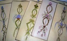 hand painted placemats