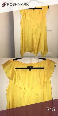 Yellow Ruffle Collar Blouse Plus Size 2X Yellow Ruffle Collar Blouse Plus Size 2X Tops Blouses