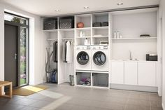 47 laundry room ideas to maximize your small space 1 Garage Laundry, Laundry Closet, Laundry Room Organization, Laundry Room Layouts, Small Laundry Rooms, Laundry In Bathroom, Casa Top, Laundry Room Inspiration, Basement Bedrooms