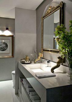 Decor Salteado - Blog de Decoração e Arquitetura : Lavabos Decorados – veja dicas e mais de 50 modelos maravilhosos!