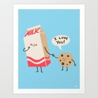 One of many awesome prints curated by Design Milk Dairy at Society6