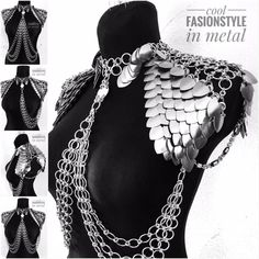 Gefällt 99 Mal 5 Kommentare cool FashionStyle in metal ( Rockabilly Mode, Scale Mail, Mode Outfits, Chainmaille, Steam Punk, Gothic Fashion, Costume Design, Body Jewelry, Designer