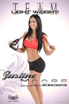 Justine Moore NPC Bikini Competitor