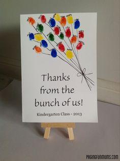 Teacher Appreciation Card from Class - (Louise)