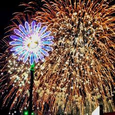 Fireworks at EDC Las Vegas 2012