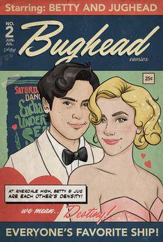 Jughead Comics, Comedy Comics, Betty & Veronica, Bughead Riverdale, Betty And Jughead, I Ship It, Archie Comics, Fanart, Ships