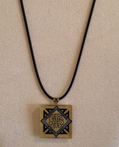 St. Teresa's Academy Necklace on Black Cord, $16.50