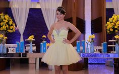 Azul Tiffany e amarelo foram as cores da festa da Julia Nunes