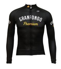 Jersey Granfondo Premium manga comprida preta Long Sleeve Granfondo Premium Black Jersey Cycling Outfits, Cycling Clothes, Bike Fashion, Jersey Outfit, Bike Wear, Bike Style, Cycling Jerseys, Coreldraw, Sport Wear