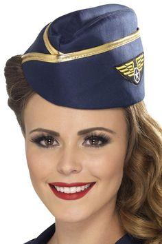 Air Hostess Hat Women Sexy Role Play Party Costume Accessory Valentine  Birthday  AirHostessHat  HatsHeadwear eb6e7d0df93e