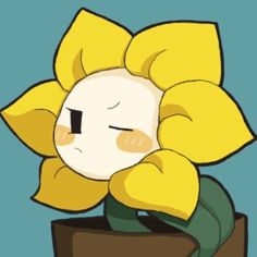 flowey is evil. but this pic makes him so cute! Undertale Flowey, Undertale Game, Anime Undertale, Undertale Drawings, Dark Flower, Flowey The Flower, Drawing Ideas List, Underswap, Fandom