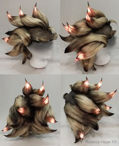Florence Heyer, a. Bakka Cosplay, is an SFX artist and a wig maker. Both sets of skills undoubtedly came in useful for one of her recent projects: a wig with LED and smoke effects. Costume Tutorial, Cosplay Tutorial, Cosplay Diy, Cosplay Costumes, Cosplay Ideas, Overwatch, Fire Crafts, Broadway Costumes, Steampunk Costume