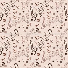 Seamless with some musical notes on light background Seamless Background, Paper Background, Textured Background, Printable Scrapbook Paper, Baby Scrapbook, Music Notes Art, Graffiti, Images Vintage, Cardmaking And Papercraft