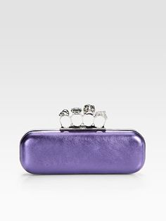 Alexander McQueen Knuckle Box Clutch