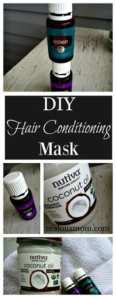 An amazing DIY hair conditioning mask that combines the nourishment of coconut oil and essential oils. Helps strengthen, lengthen and beautify your hair.