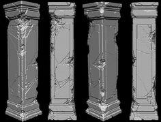 【ZBrush】ひび割れカスタムブラシ合計96コ!無料でダウンロード可能!!荒廃した背景モデリングに最適 cgchips.com/zbrush-brushes-for-damaged-marble-pillars-8095.html