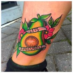 Netflix And Chill Avocado | 21 Tattoos For Anyone Who Seriously Loves Avocado