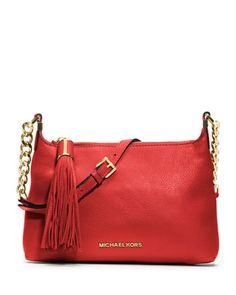 MICHAEL Michael Kors  Small Bedford Tassle Pebbled Messenger Bag.