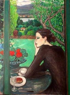 ✿Time For Coffee & Tea✿ Le point du jour (Daybreak) - Jean-Pierre Cassigneul… Art Français, Cafe Art, Ouvrages D'art, Painting People, Art Et Illustration, Tea Art, Norman Rockwell, Art For Art Sake, French Artists