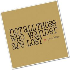 Not All Those Who Wander - Wee Little Quotes PDF Cross Stitch Pattern - INSTANT DOWNLOAD. $6.00, via Etsy.