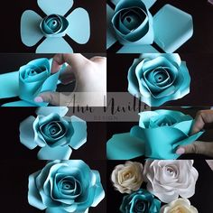 Paper Flowers Craft, Large Paper Flowers, Crepe Paper Flowers, Paper Flower Backdrop, Giant Paper Flowers, Paper Roses, Flower Crafts, Diy Flowers, Flower Decorations