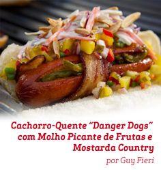 Pra quem ama Cachorro Quente, essa receita do Guy Fieri é uma ótima pedida.