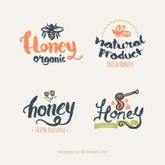 Honey logos design Free Vector