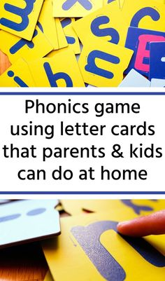 Easy phonics game to teach kids how to read. This literacy game uses alphabet cards and simple words. Parents can play this game at home with their kids learning how to read. Teaching Letter Sounds, Teaching Abcs, Teaching Letters, Help Teaching, Teaching Reading, Educational Activities For Kids, Letter Activities, English Language, Language Arts