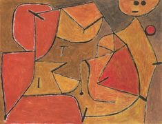 Paul Klee 1940 This work is actually now two works after Klee cut the right hand portion off- That right hand part is now called 'Mannequin' 48 x 26 cm and the remaining left side is called 'I am Doing it Again' 48 x 36.4 cm