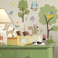 BuyJomoval Woodland Creatures Wall Stickers Online at johnlewis.com