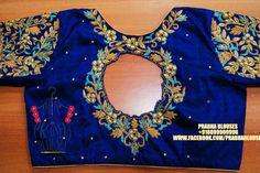 Wedding Saree Blouse Designs, Half Saree Designs, Pattu Saree Blouse Designs, Blouse Designs Silk, Designer Blouse Patterns, Hand Work Blouse Design, Kids Blouse Designs, Maggam Work Designs, Sarees