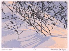 William Hayes - Delicate Light, Linocut