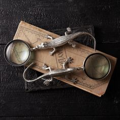 IN OUR SHOPPE: Reptile magnifying glasses. | #swankbydesign #home #reptile #magnify #decorate