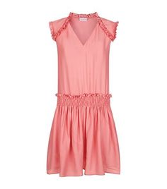 Claudie Pierlot Woman Ruffle-trimmed Jacquard Dress Pink Size 36 Claudie Pierlot Ny4ZOv3x