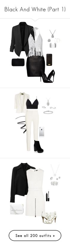 """Black And White (Part 1)"" by gone-girl ❤ liked on Polyvore featuring LE3NO, David Yurman, Magda Butrym, Sergio Rossi, Dinh Van, Dolce&Gabbana, Henri Bendel, L'Oréal Paris, Jolie Moi and Roland Mouret"