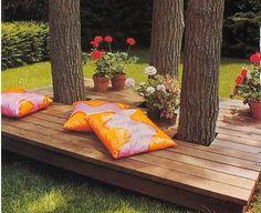 деревянный настил в саду - Google Search