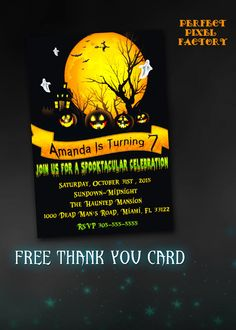 Halloween Party Invitation Halloween by PerfectPixelFactory