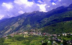 Beautiful view of Bharmour, a small twon in Himachal Pradesh. Bharmour is special place from tourism point of view because of great history of chaurasi temples which were built around 1500 years before. In northern India Bharmour is also popular for Manimahesh Yatra a pilgrimage to home of lord Shiva